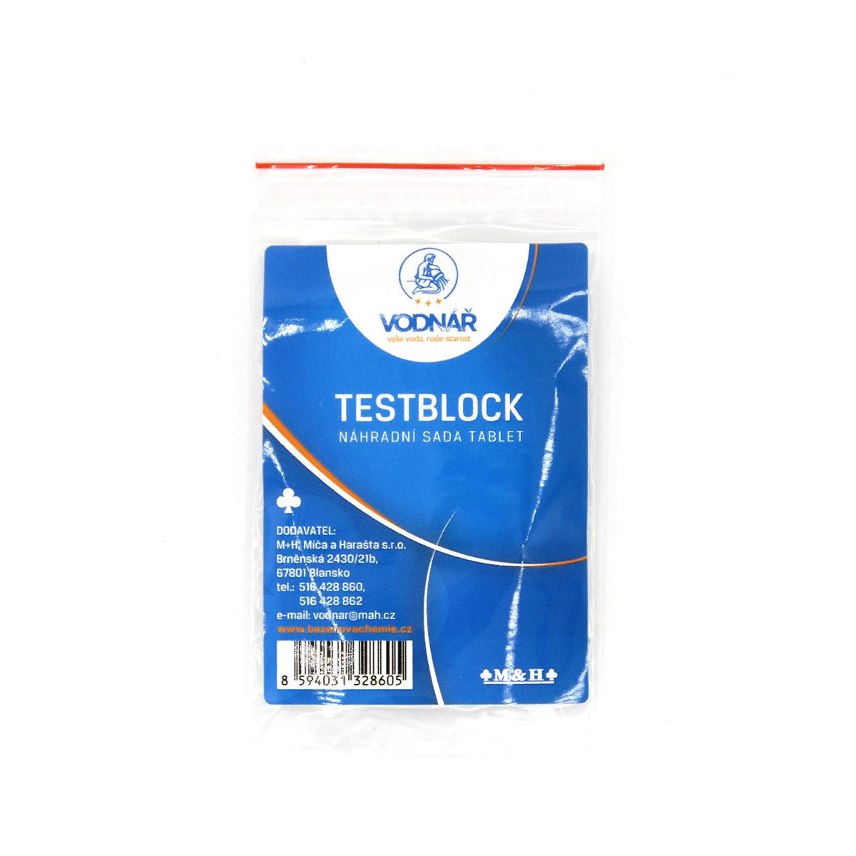 Vodnář Testblock náhradní sada tablet
